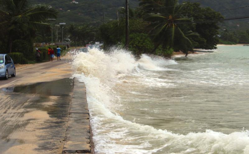 Sturmflut auf den Seychellen, Foto: Noah Martin