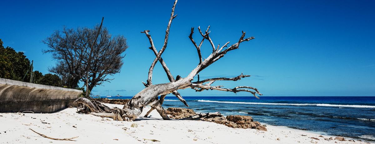 Coastal erosion, Seychelles
